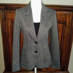 Zara Basic Collection Pinstripe Gray Blazer